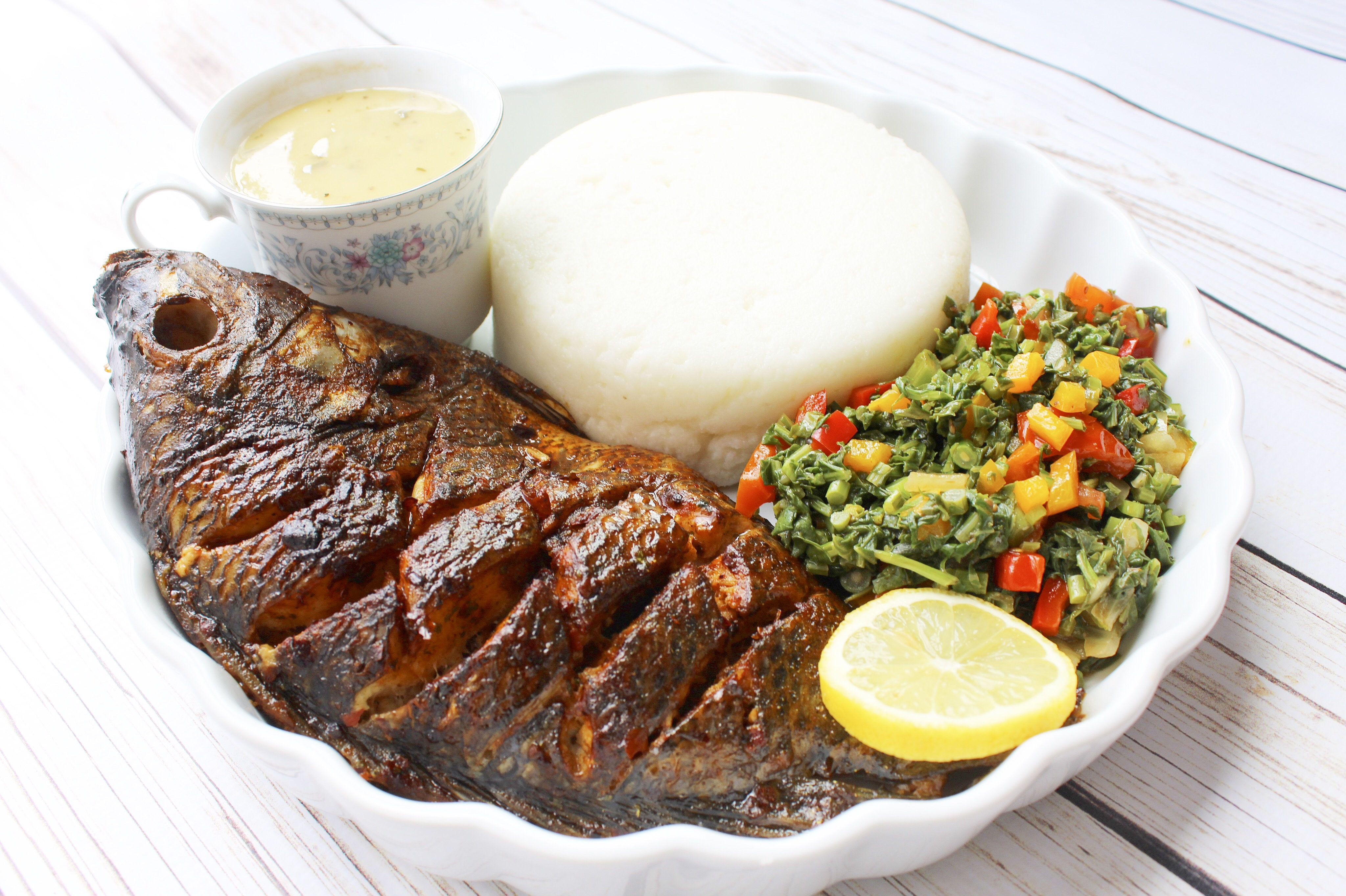 Grilled whole tilapia ivy 39 s kitchenette a taste of for Cuisine zimbabwe